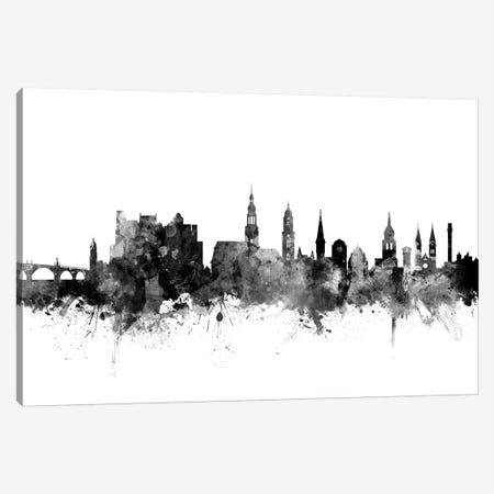 Heidelberg, Germany In Black & White Canvas Print #MTO814} by Michael Tompsett Art Print