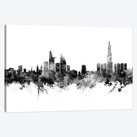 Ho Chi Minh City, Vietnam In Black & White Canvas Print #MTO816} by Michael Tompsett Canvas Art Print