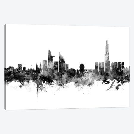 Ho Chi Minh City, Vietnam In Black & White Canvas Print #MTO816} by Michael Tompsett Canvas Art Print