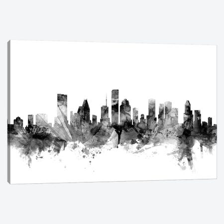 Houston, Texas In Black & White Canvas Print #MTO819} by Michael Tompsett Canvas Artwork
