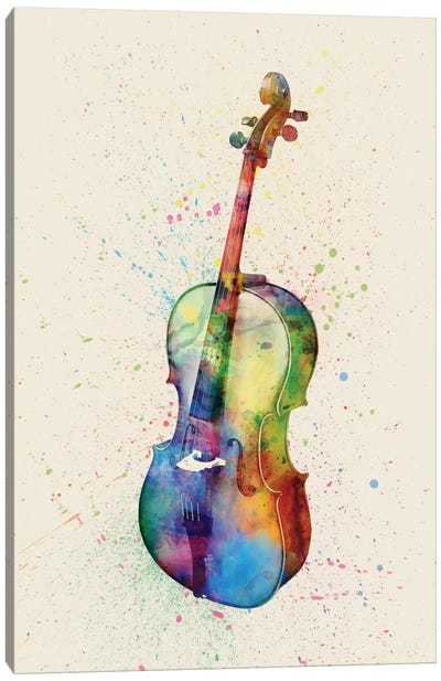 Musical Instrument Series: Cello Canvas Art Print