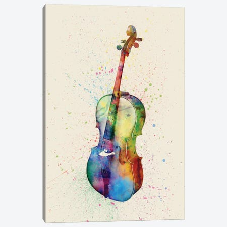 Cello Canvas Print #MTO81} by Michael Tompsett Canvas Art Print