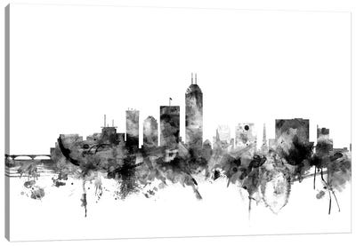 Indianapolis, Indiana In Black & White Canvas Art Print