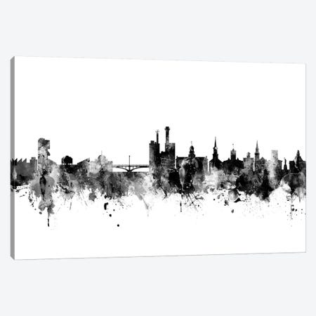 Iowa City, Iowa In Black & White Canvas Print #MTO821} by Michael Tompsett Canvas Art Print