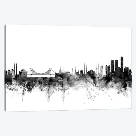 Istanbul, Turkey In Black & White Canvas Print #MTO822} by Michael Tompsett Art Print
