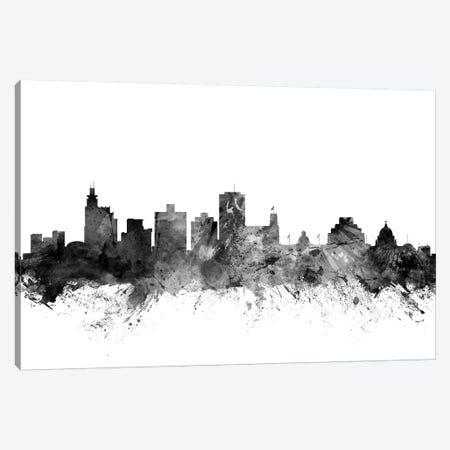 Jackson, Mississippi In Black & White Canvas Print #MTO823} by Michael Tompsett Canvas Print