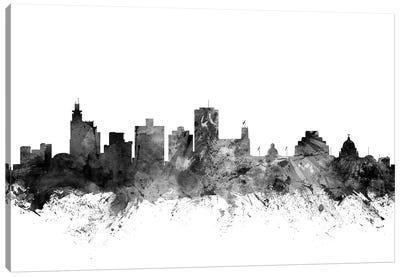 Jackson, Mississippi In Black & White Canvas Art Print