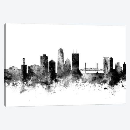 Jacksonville, Florida In Black & White Canvas Print #MTO824} by Michael Tompsett Canvas Wall Art