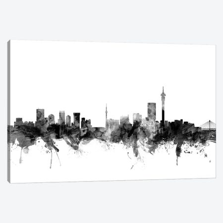 Johannesburg, South Africa In Black & White Canvas Print #MTO827} by Michael Tompsett Canvas Wall Art