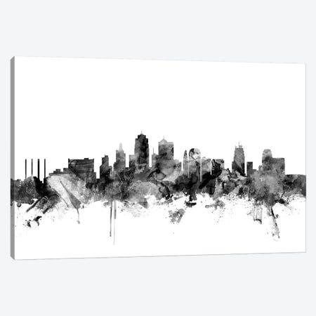 Kansas City, Missouri In Black & White Canvas Print #MTO828} by Michael Tompsett Canvas Art Print