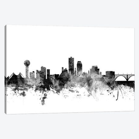 Knoxville, Tennessee In Black & White Canvas Print #MTO829} by Michael Tompsett Art Print