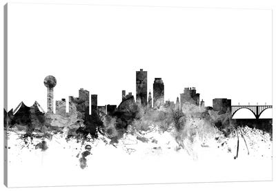 Knoxville, Tennessee In Black & White Canvas Art Print