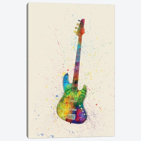 Electric Bass Guitar Canvas Print #MTO82} by Michael Tompsett Canvas Art Print