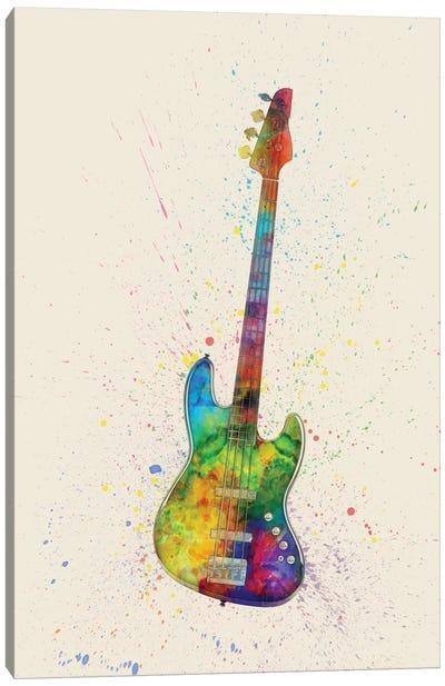 Electric Bass Guitar Canvas Art Print