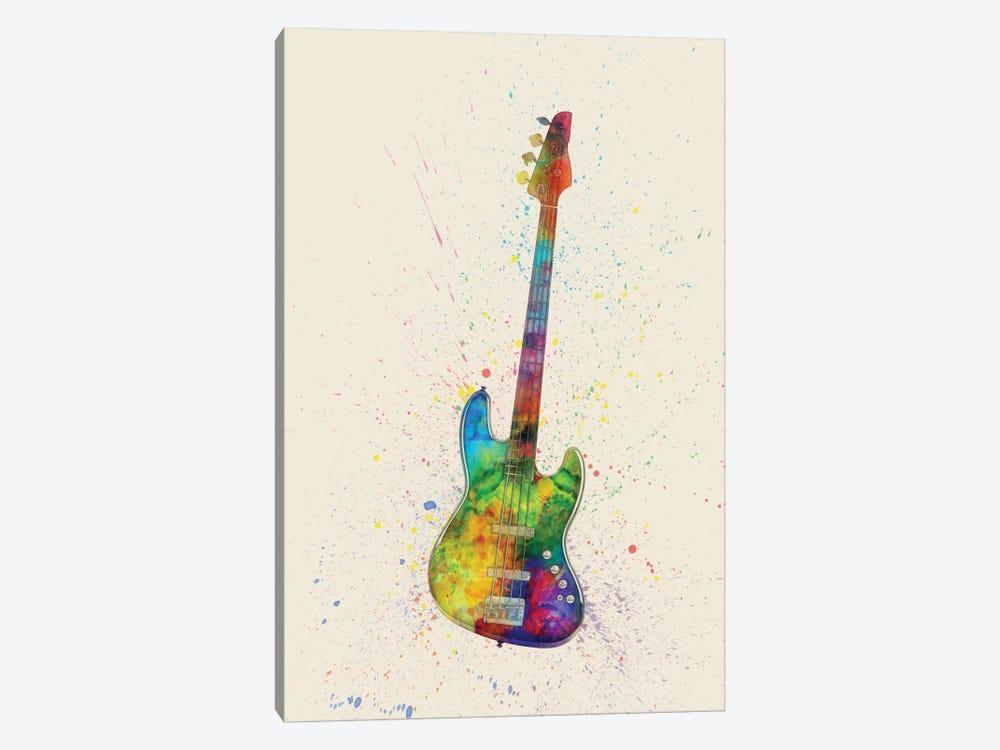 Electric Bass Guitar by Michael Tompsett 1-piece Canvas Art Print