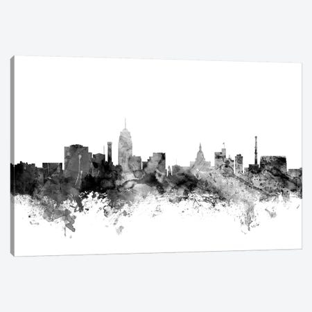 Lansing, Michigan In Black & White Canvas Print #MTO831} by Michael Tompsett Canvas Artwork