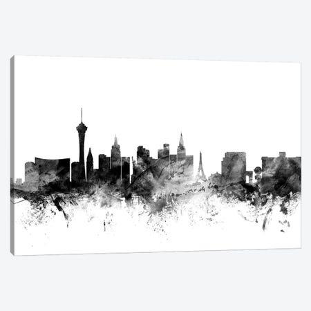 Las Vegas, Nevada In Black & White Canvas Print #MTO832} by Michael Tompsett Canvas Art