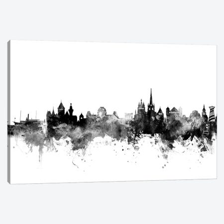 Lausanne, Switzerland In Black & White Canvas Print #MTO833} by Michael Tompsett Canvas Wall Art