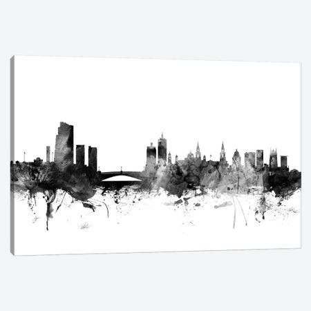 Leeds, England In Black & White Canvas Print #MTO834} by Michael Tompsett Canvas Art Print