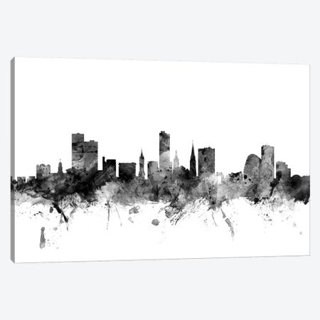 Leicester, England In Black & White Canvas Print #MTO835} by Michael Tompsett Canvas Art Print