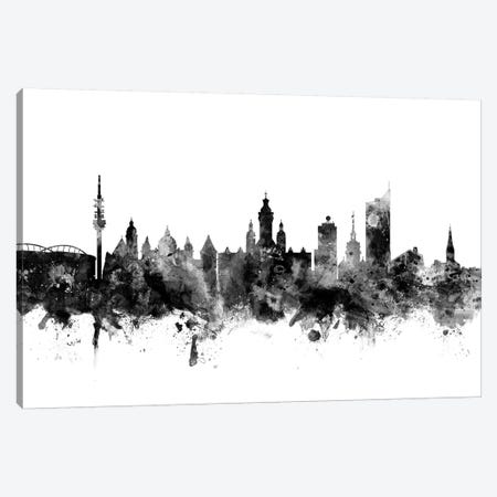 Leipzig, Germany In Black & White Canvas Print #MTO836} by Michael Tompsett Canvas Art Print
