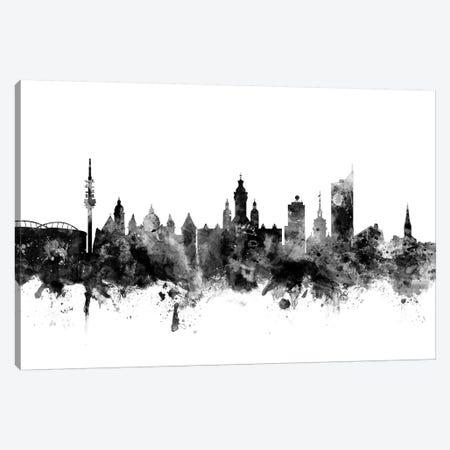 Leipzig, Germany In Black & White Canvas Print #MTO836} by Michael Tompsett Canvas Art Print