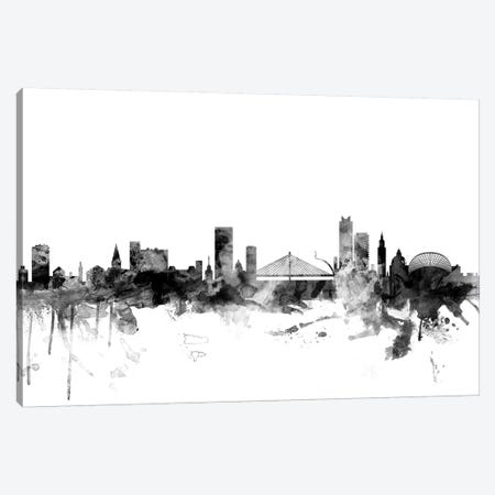 Liege, Belgium In Black & White Canvas Print #MTO837} by Michael Tompsett Art Print