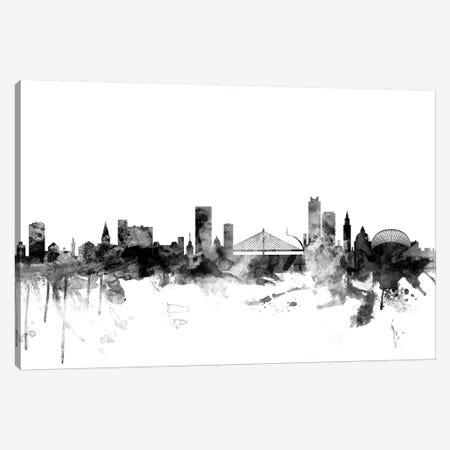 Liege, Belgium In Black & White Canvas Print #MTO837} by Michael Tompsett Art Print