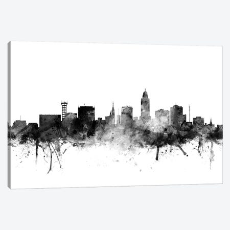 Lincoln, Nebraska In Black & White Canvas Print #MTO838} by Michael Tompsett Canvas Wall Art