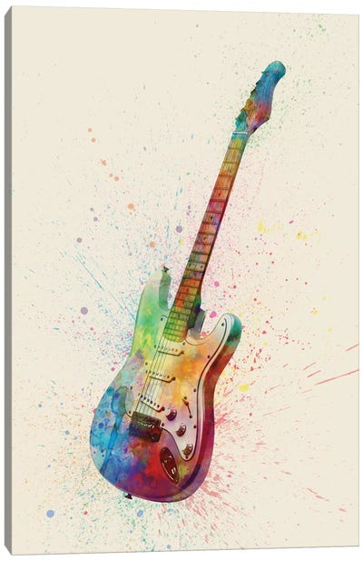 Musical Instrument Series: Electric Guitar I Canvas Art Print