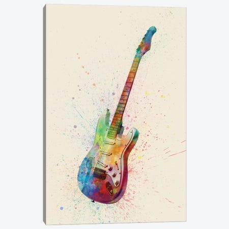 Electric Guitar I Canvas Print #MTO83} by Michael Tompsett Canvas Print