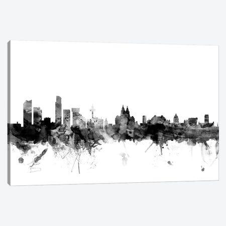 Liverpool, England In Black & White Canvas Print #MTO840} by Michael Tompsett Canvas Print
