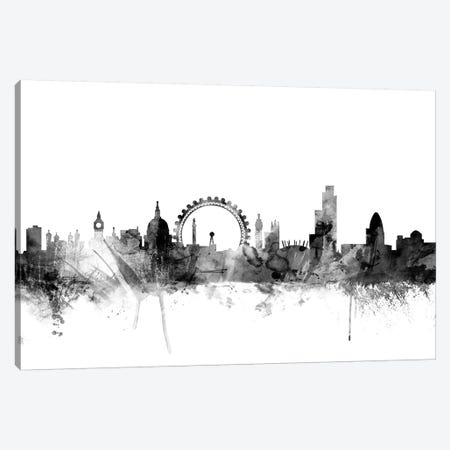 London, England In Black & White I Canvas Print #MTO841} by Michael Tompsett Art Print