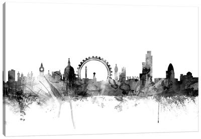 London, England In Black & White I Canvas Art Print