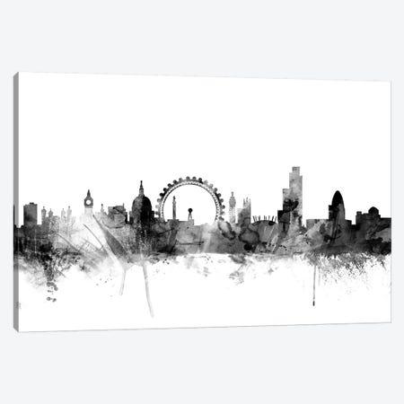 London, England In Black & White I Canvas Print #MTO841} by Michael Tompsett Art Print
