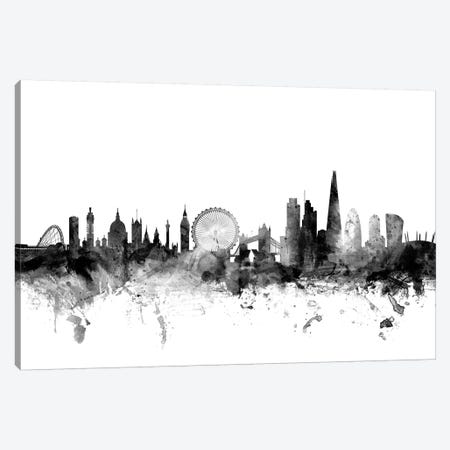 London, England In Black & White II Canvas Print #MTO842} by Michael Tompsett Canvas Print