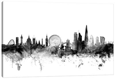 London, England In Black & White II Canvas Art Print