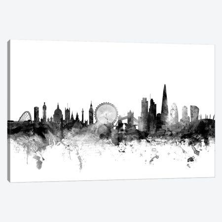 London, England In Black & White II Canvas Print #MTO842} by Michael Tompsett Canvas Print