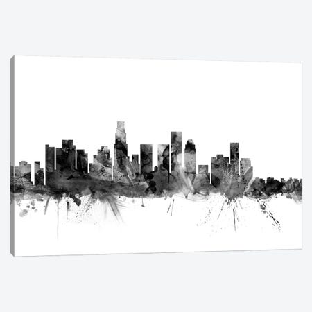 Los Angeles, California In Black & White I Canvas Print #MTO843} by Michael Tompsett Canvas Print