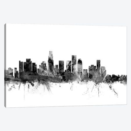 Los Angeles, California In Black & White I Canvas Print #MTO843} by Michael Tompsett Canvas Print