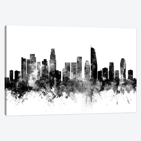 Los Angeles, California In Black & White II Canvas Print #MTO844} by Michael Tompsett Canvas Art