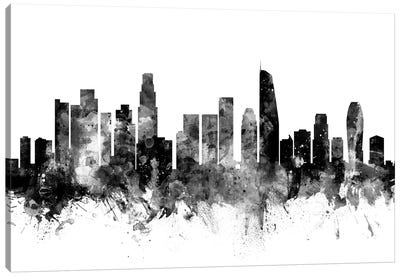 Los Angeles, California In Black & White II Canvas Art Print