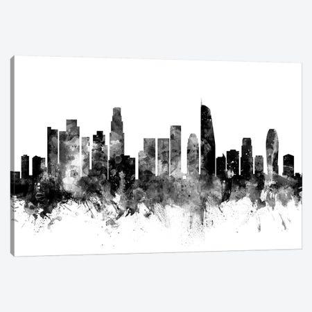 Los Angeles, California In Black & White II Canvas Print #MTO844} by Michael Tompsett Canvas Art