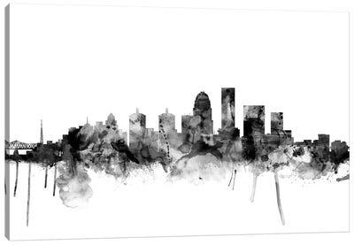 Louisville, Kentucky In Black & White Canvas Art Print