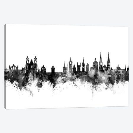Lucerne, Switzerland In Black & White Canvas Print #MTO846} by Michael Tompsett Canvas Artwork