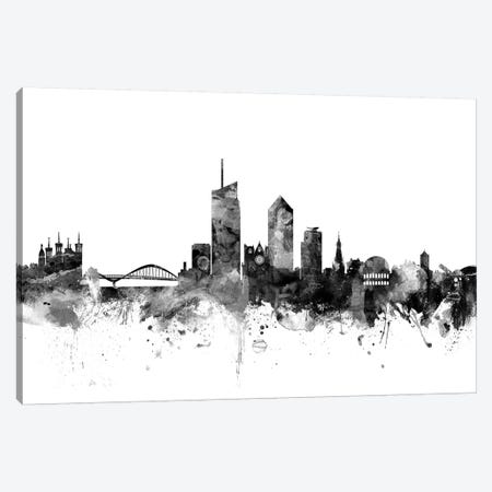 Lyon, France In Black & White Canvas Print #MTO848} by Michael Tompsett Canvas Print