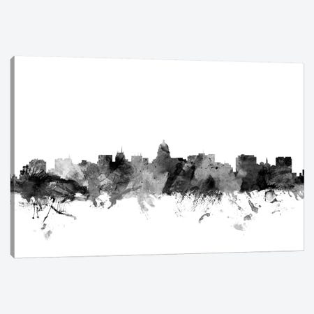 Madison, Wisconsin In Black & White Canvas Print #MTO849} by Michael Tompsett Canvas Art Print