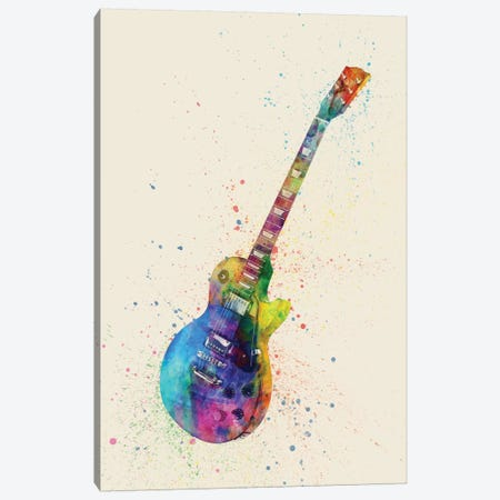 Electric Guitar II Canvas Print #MTO84} by Michael Tompsett Canvas Wall Art