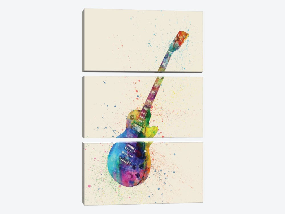 Musical Instrument Series: Electric Guitar II by Michael Tompsett 3-piece Canvas Print