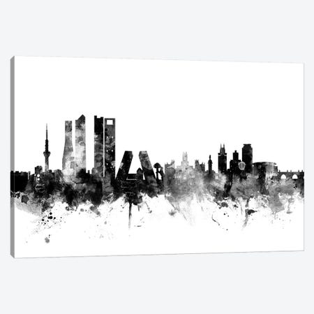 Madrid, Spain In Black & White 3-Piece Canvas #MTO850} by Michael Tompsett Canvas Wall Art